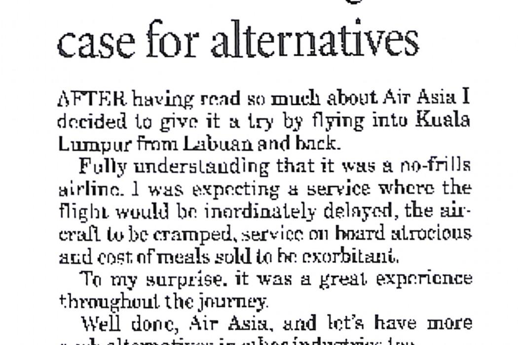 airasia makes great case for alternatives