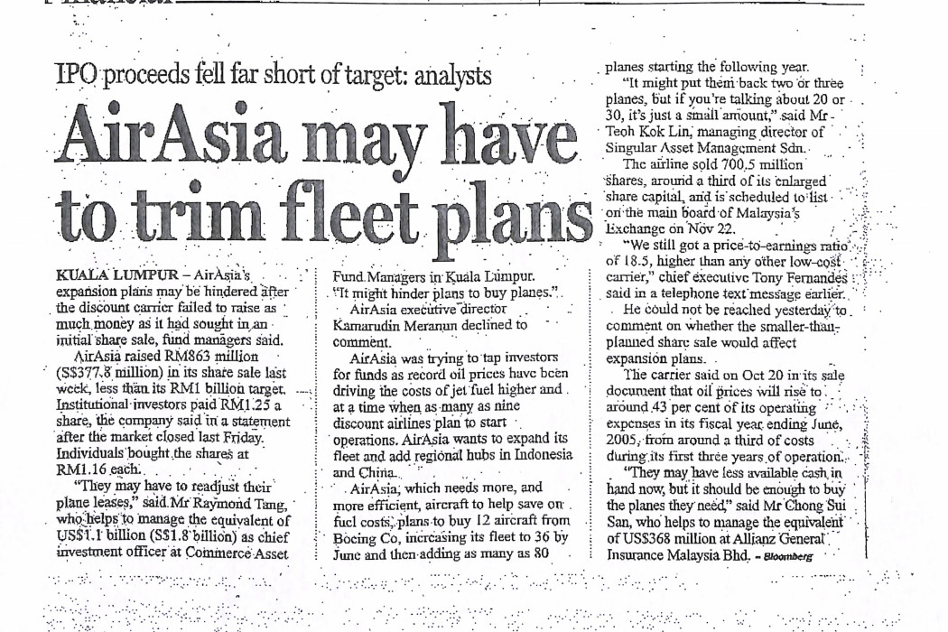 airasia may have to trim fleet plans