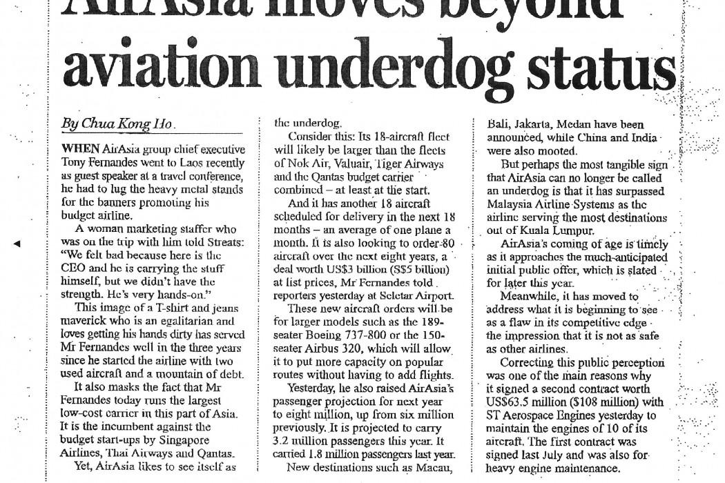 airasia moves beyond aviation underdog status