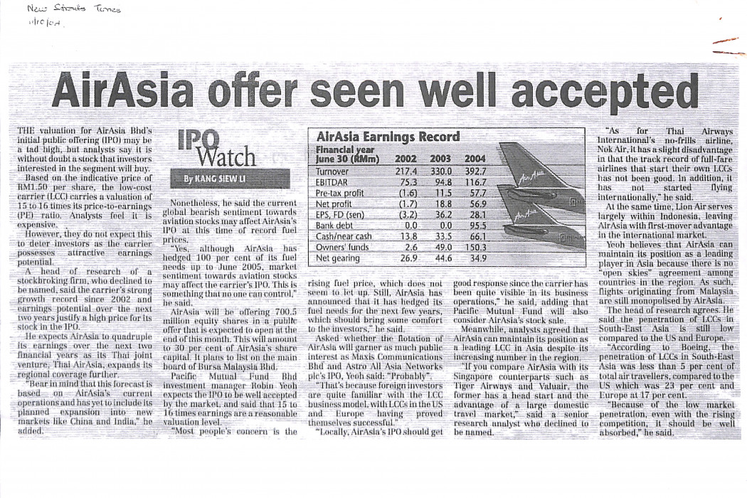 airasia offer seen well accepted