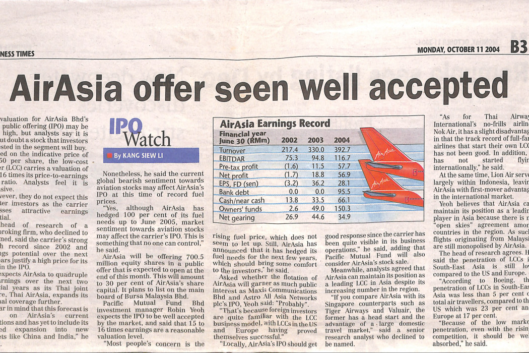 airasia offer seen well accepted (print)