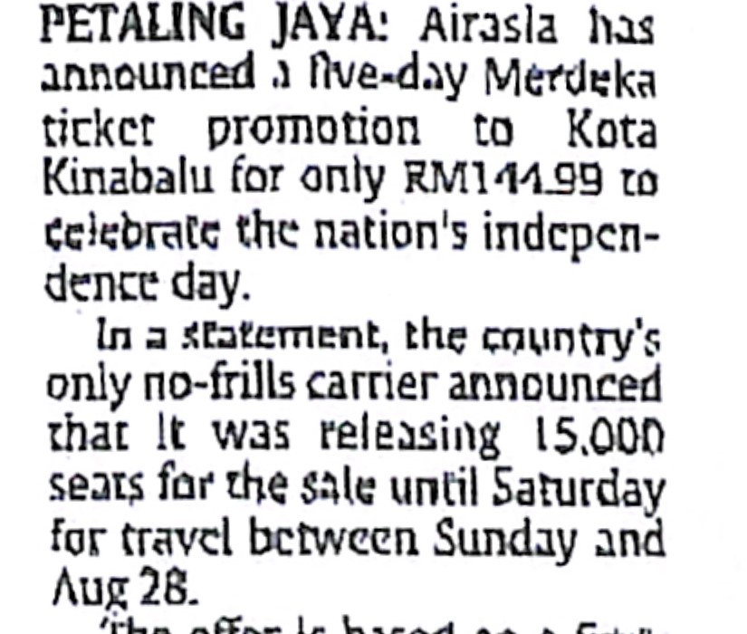 airasia offers promo price on flights to KK