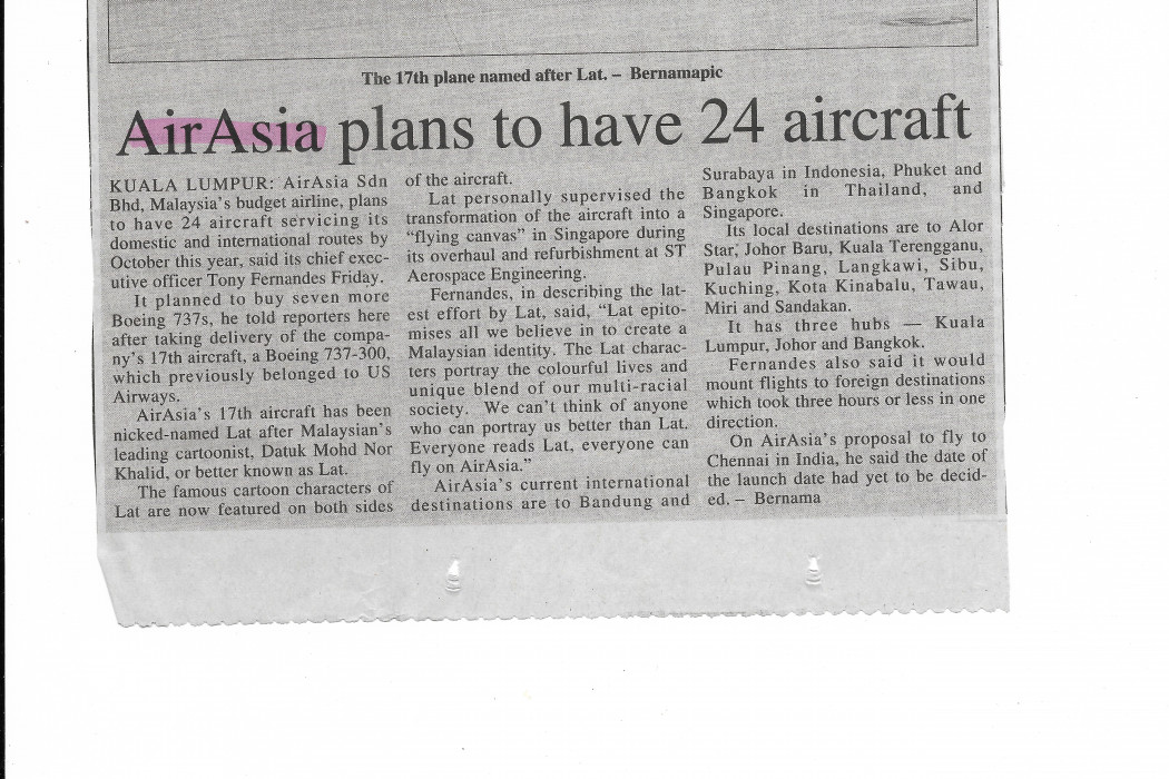 airasia plans to have 24 aircraft