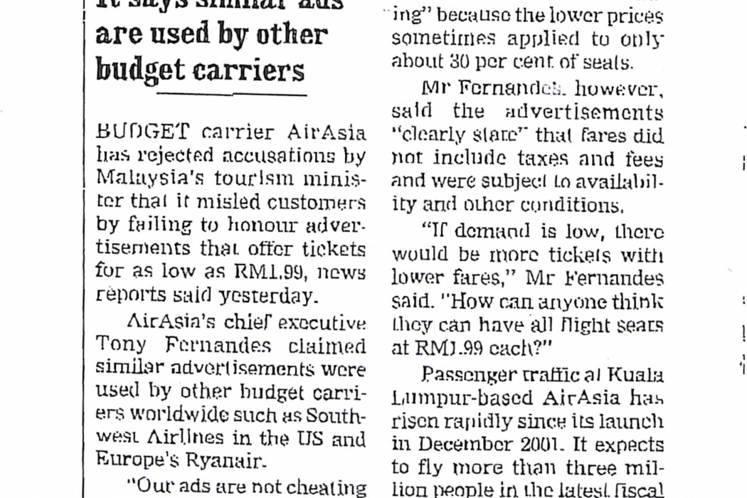 airasia rejects accusations its ads mislead customers