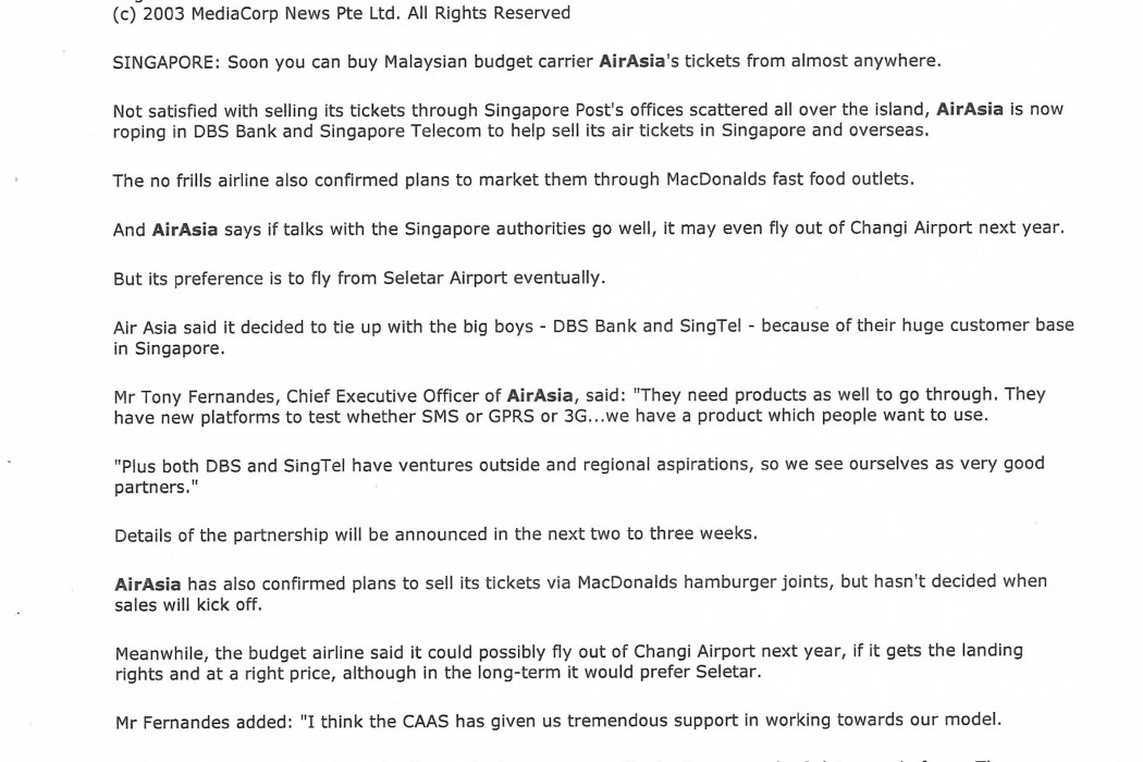 airasia ropes in DBS, SingTel to help sell air tickets (2)