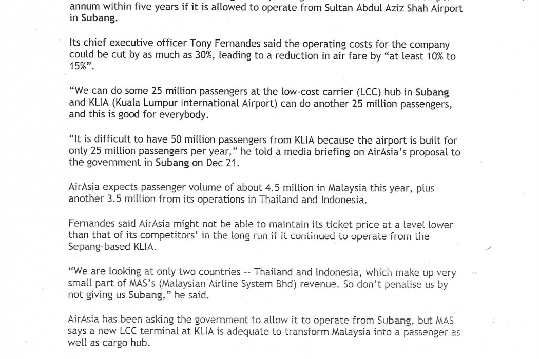 airasia says can do 20m passengers with Subang - 01