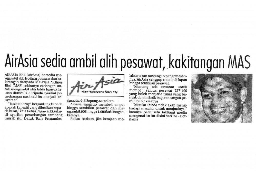 airasia sedia ambil alih pesawat, kakitangan MAS