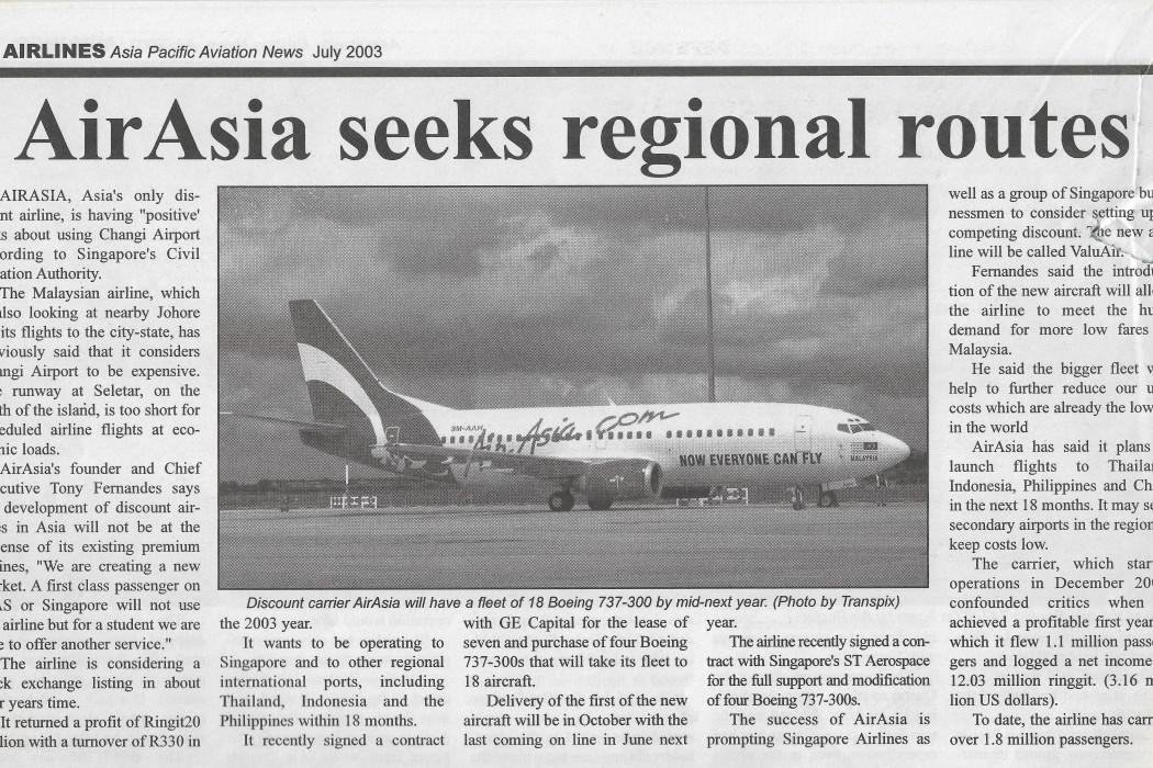 airasia seeks regional routes