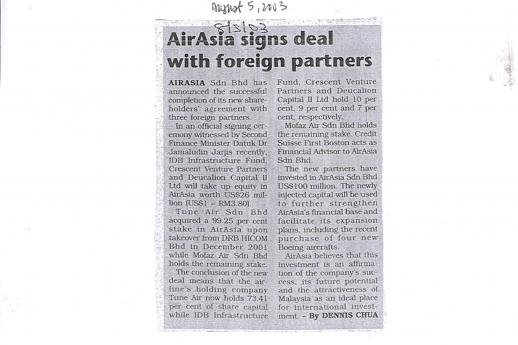 airasia signs deal with foreign partners
