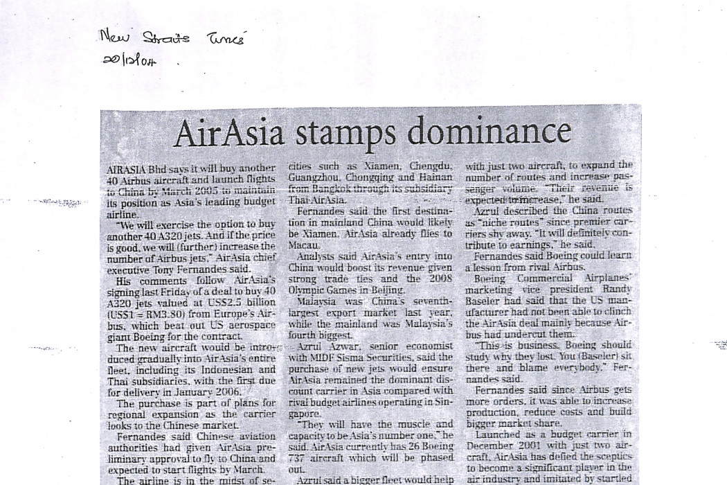 airasia stamps dominance