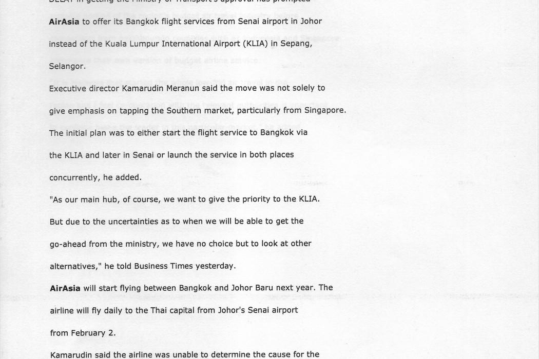 airasia still awaiting nod for flights from KLIA to Bangkok (1)