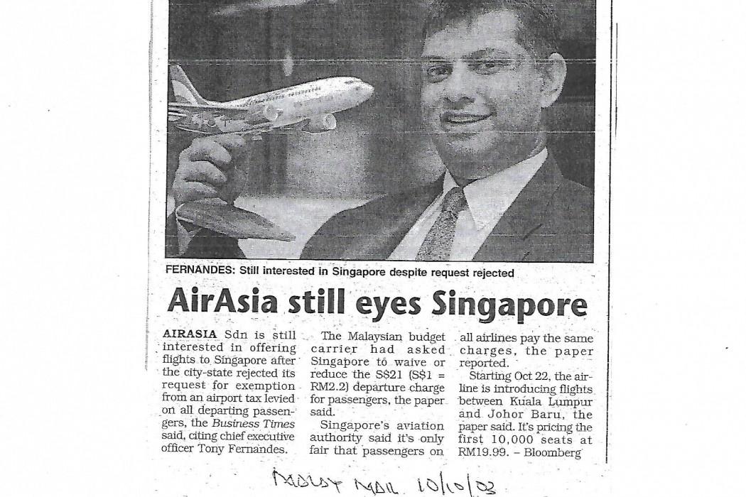 airasia still eyes Singapore