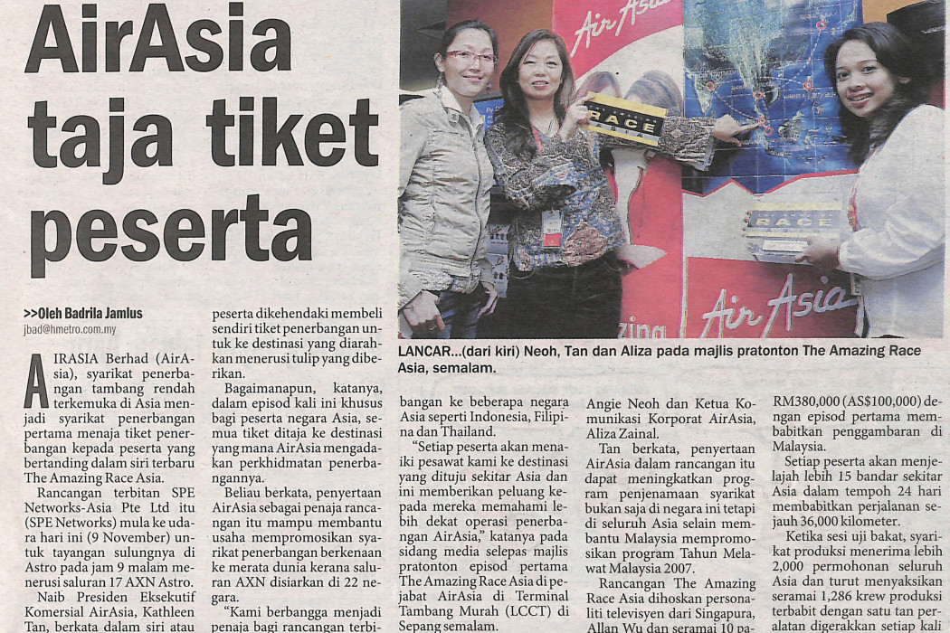 airasia taja tiket peserta