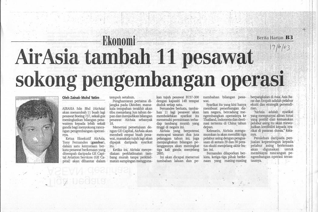 airasia tambah 11 pesawat sokong pengembangan operasi