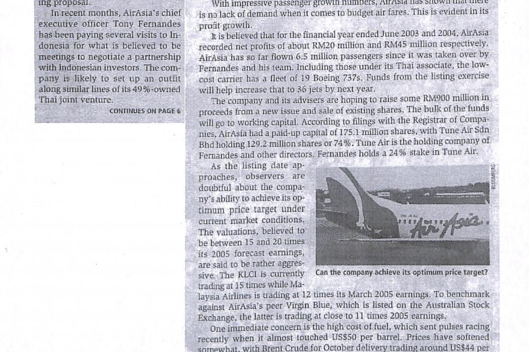 airasia targets November listing