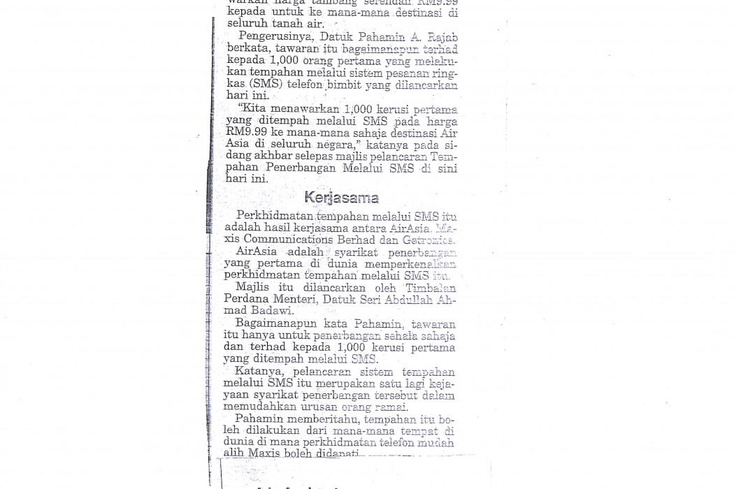 airasia tawar tambang RM9.99