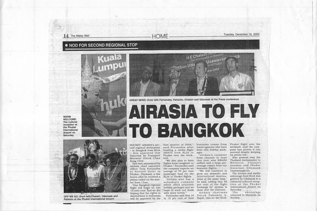 airasia to Fly to Bangkok