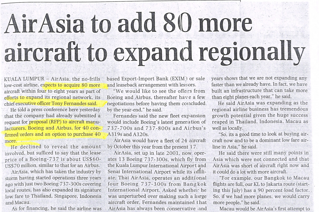 airasia to add 80 more aircraft to expand regionally