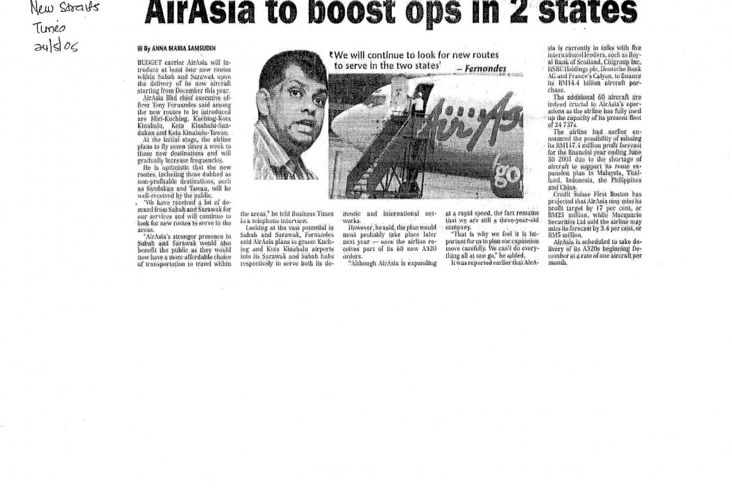 airasia to boost ops in 2 states