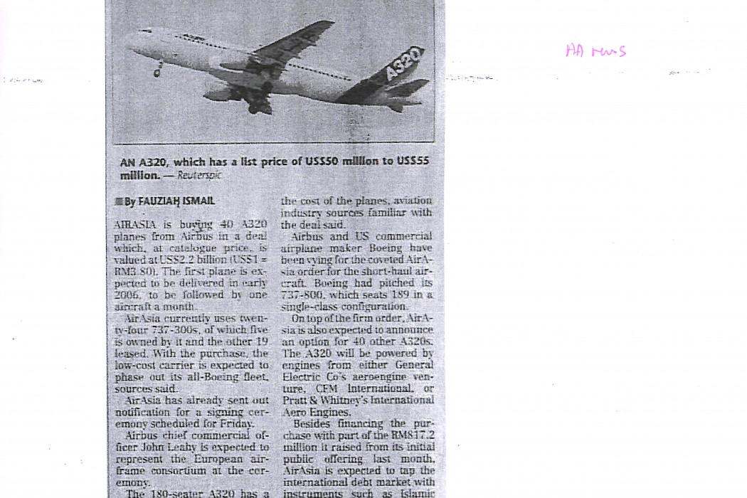 airasia to buy 40 Airbus planes