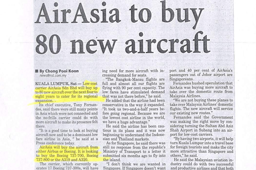 airasia to buy 80 new aircraft