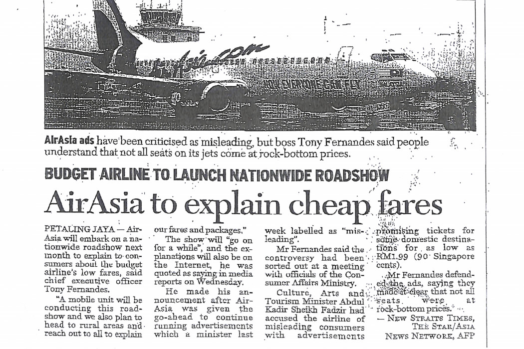 airasia to explain cheap fares