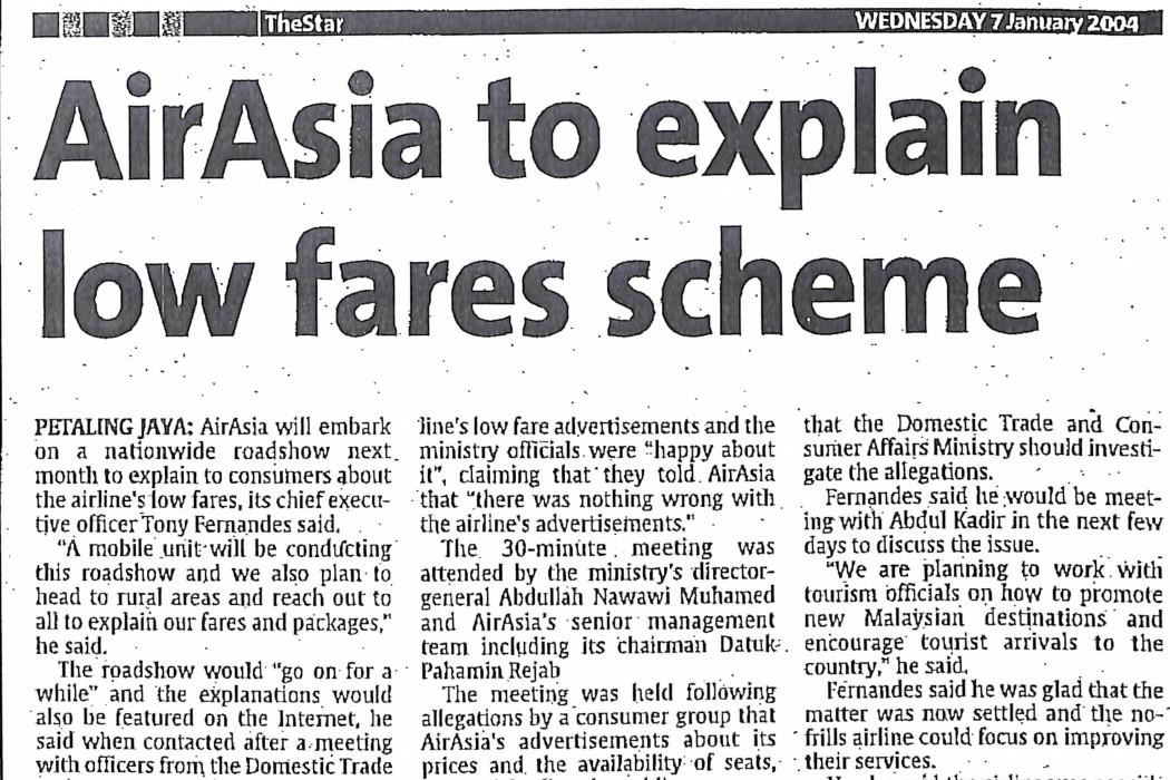 airasia to explain low fares scheme