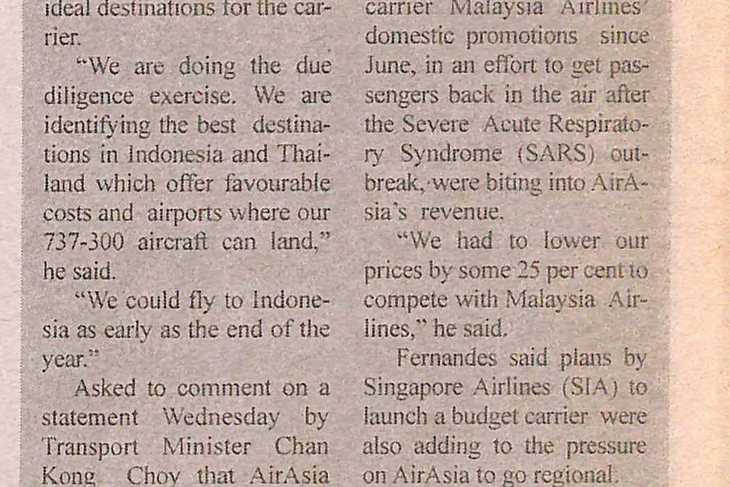 airasia to fly to Indonesia, Thailand