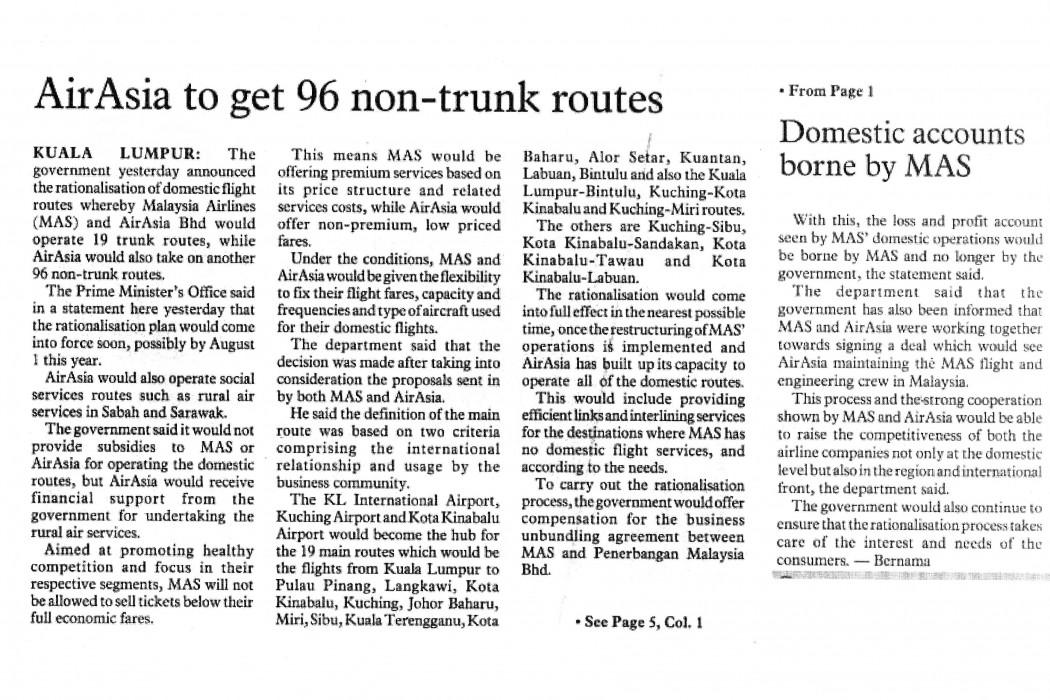 airasia to get 96 non-trunk routes
