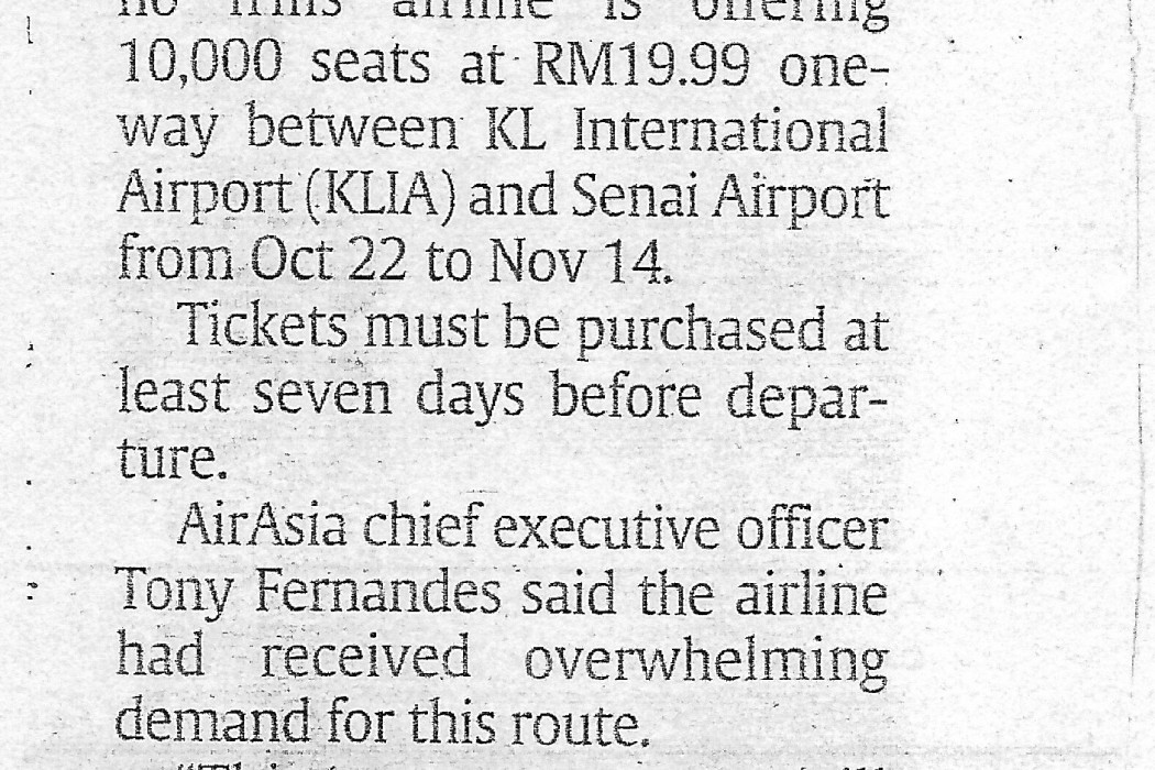 airasia to introduce KL-JB route twice daily