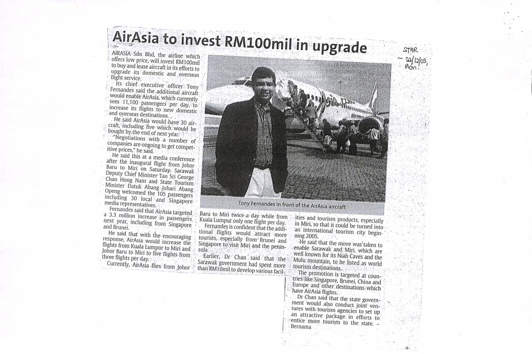 airasia to invest RM100mil in upgrade