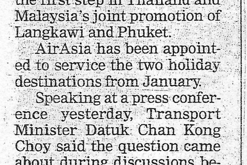 airasia to service Phuket and Langkawi