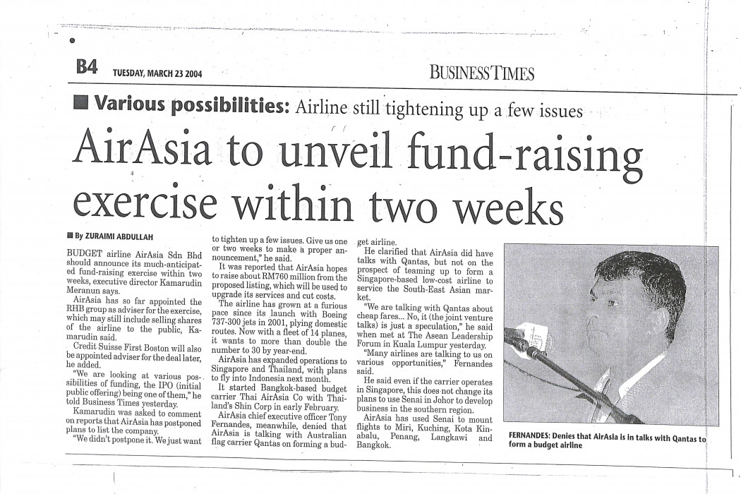 airasia to unveil fund-raising exercise within two weeks