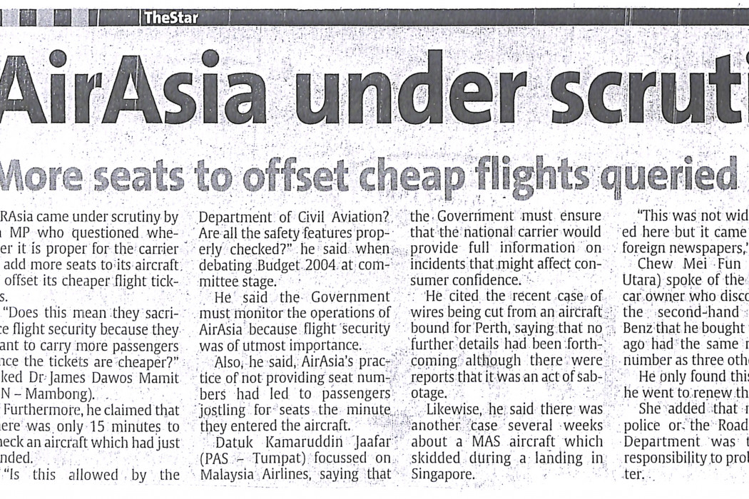 airasia under scrutiny