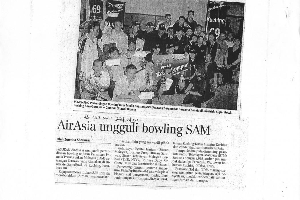 airasia ungguli bowling SAM