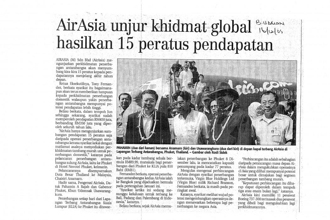 airasia unjur khidmat global hasilkan 15 peratus pendapatan