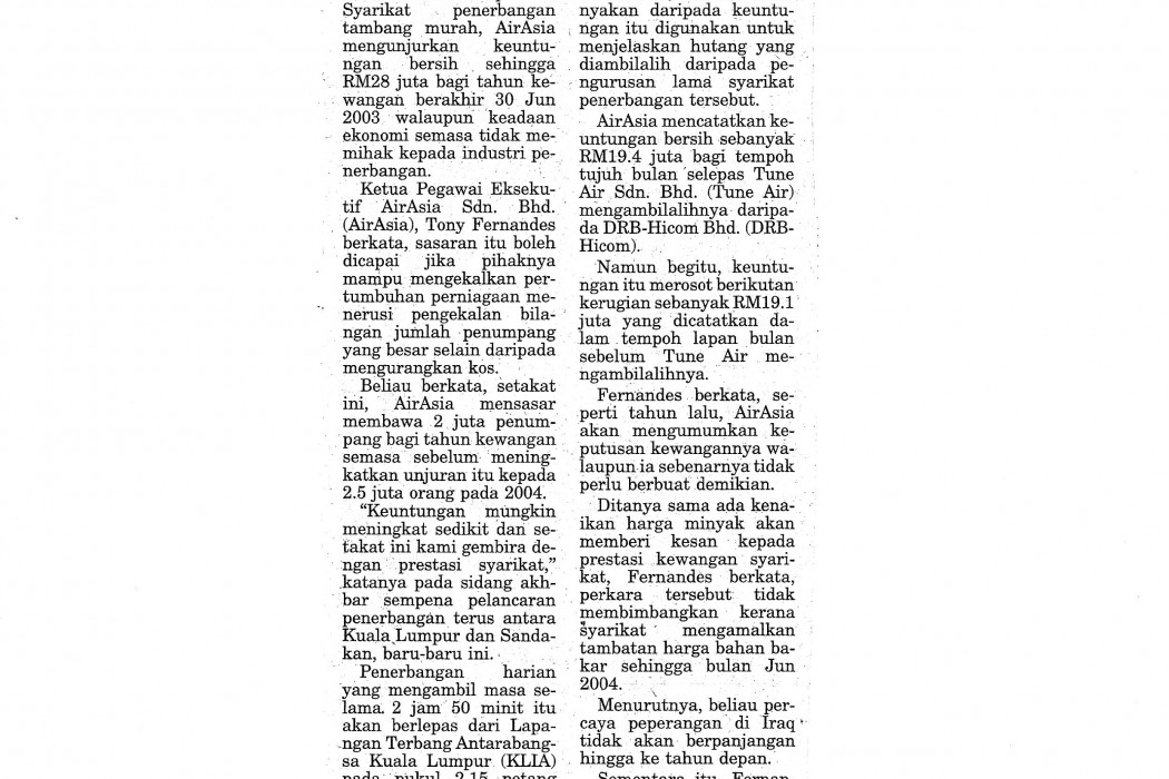 airasia unjur pendapatan RM28j