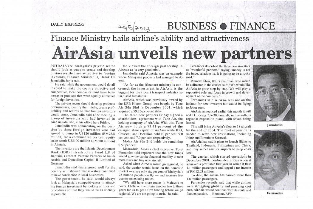 airasia unveils new partner