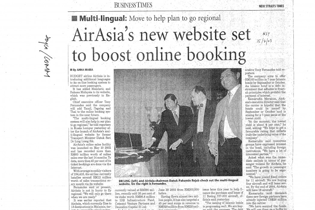 airasia's new website set to boost online booking