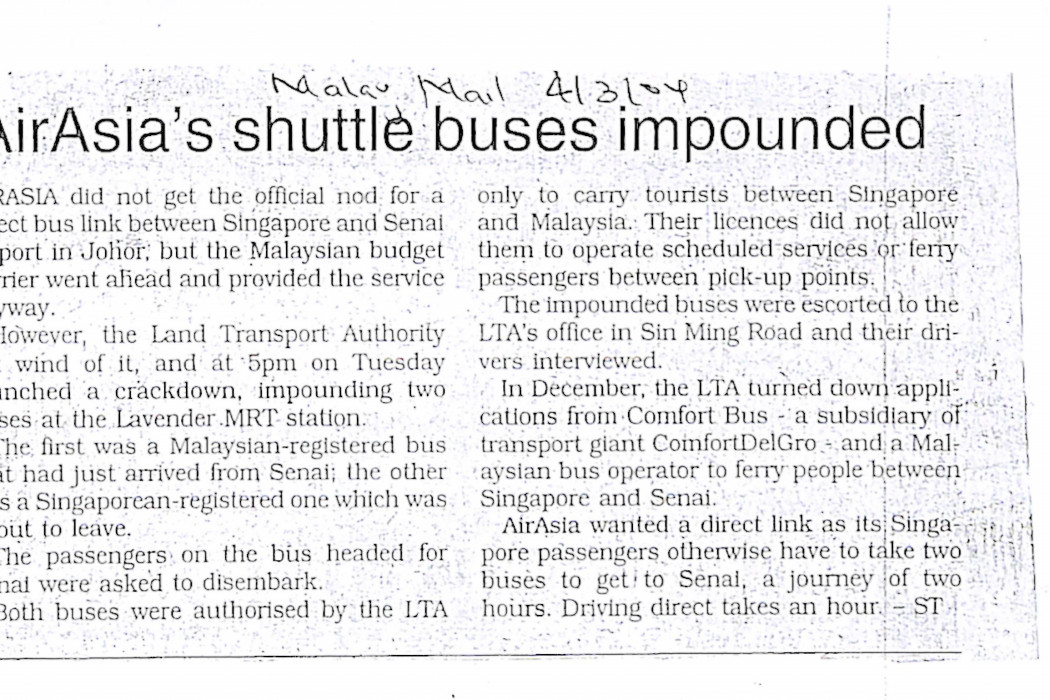 airasia's shuttle buses impounded