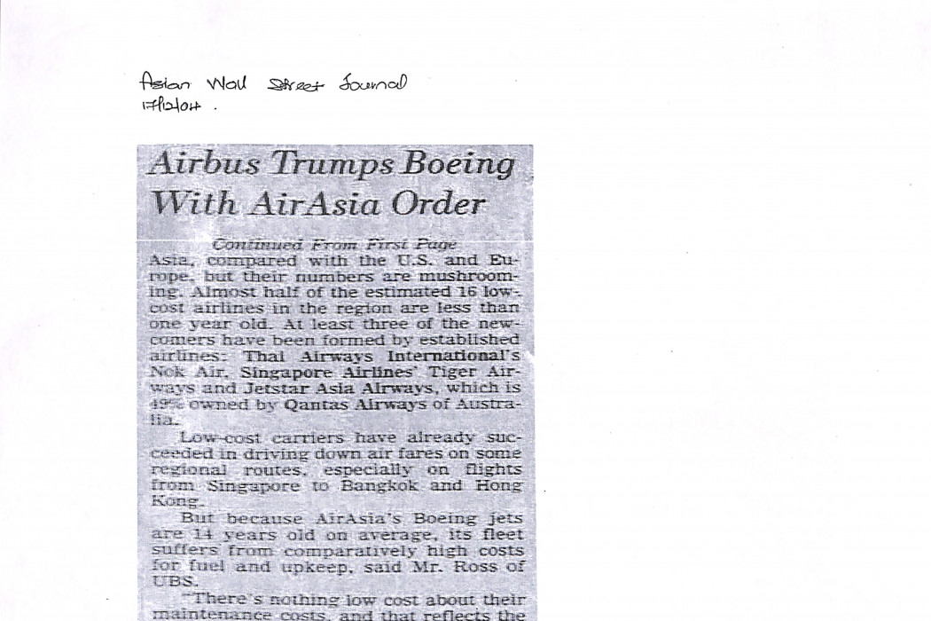 Airbus Trumps Boeing With airasia Order