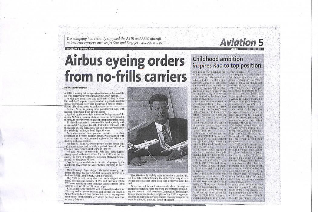 Airbus eyeing ordes from no-frills carriers