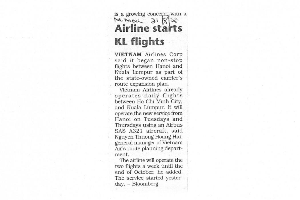 Airline starts KL flights