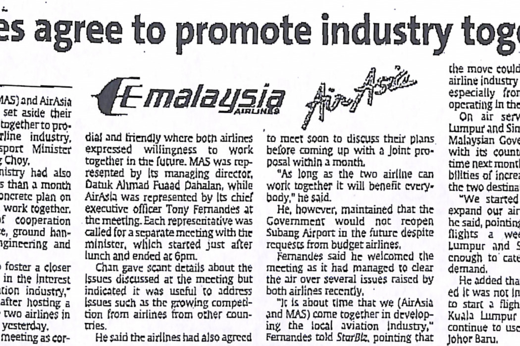 Airlines agree to promote industry together