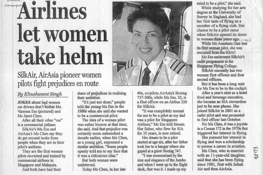 Airlines let women take helm