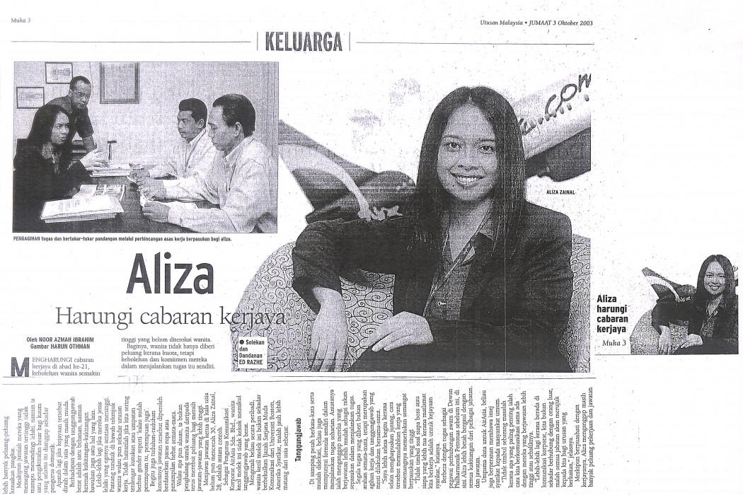 Aliza Harungi cabaran kerjaya