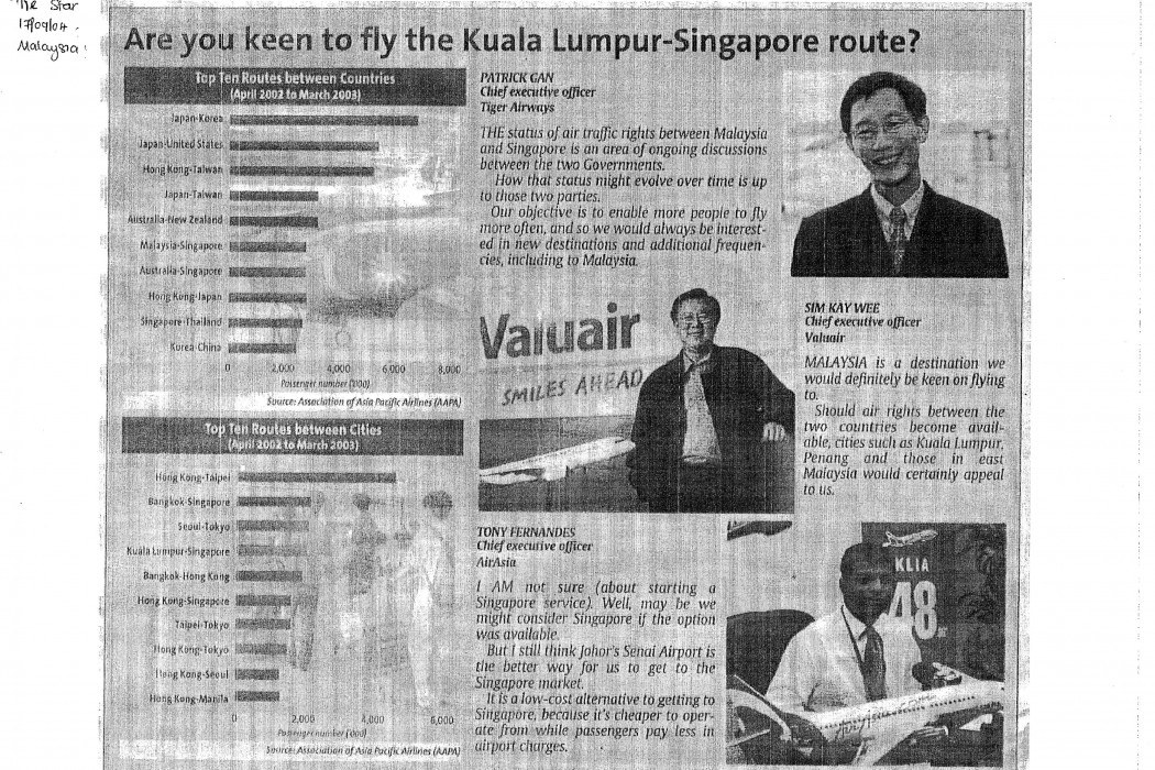 Are you keen to fly the Kuala Lumpur-Singapore route