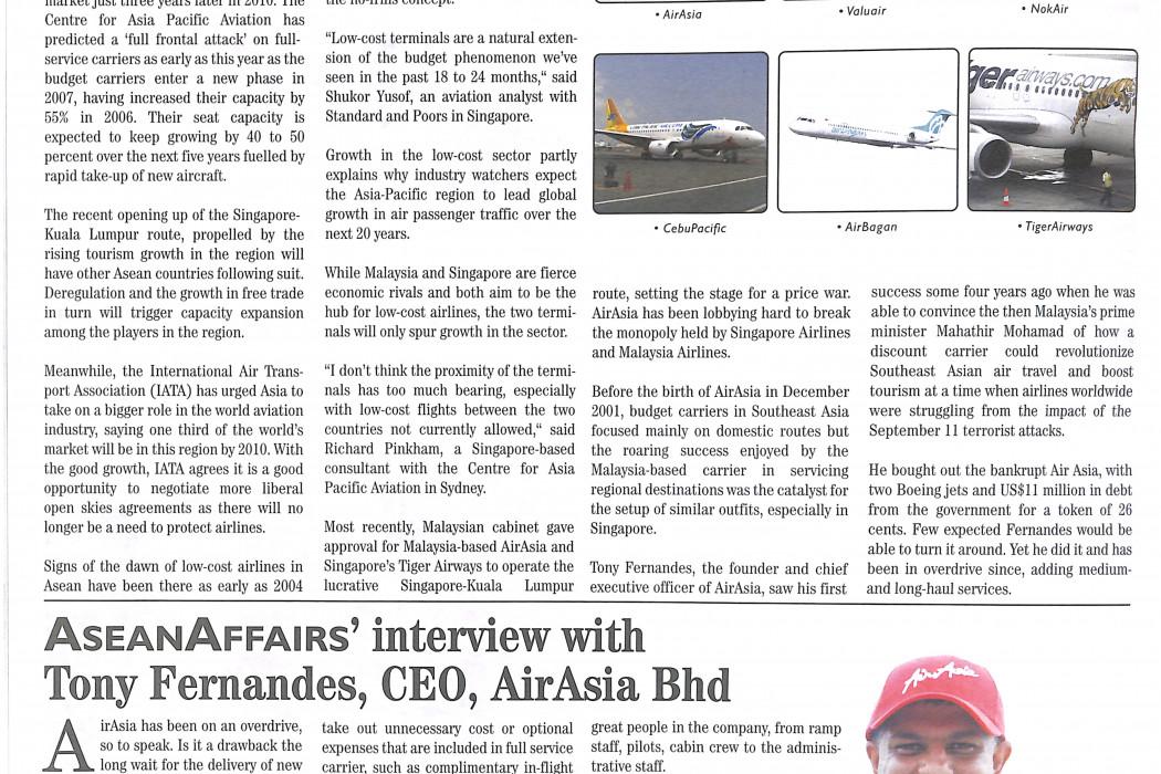 AseanAffair's interview with Tony Fernandes, CEO, airasia Bhd (1)