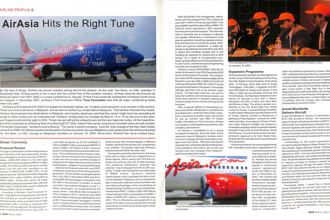 Asian Commercial Aviation - March 2003 (2)