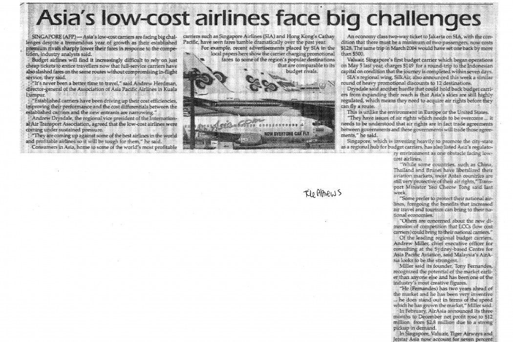 Asia's low-cost airlines face big challenges